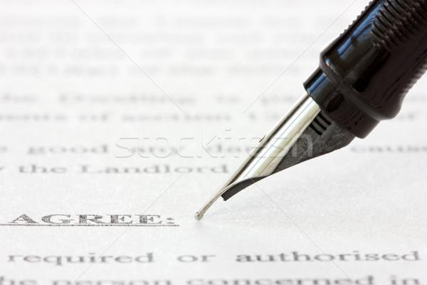 ink pen over a printed agreement Stock photo © Grazvydas