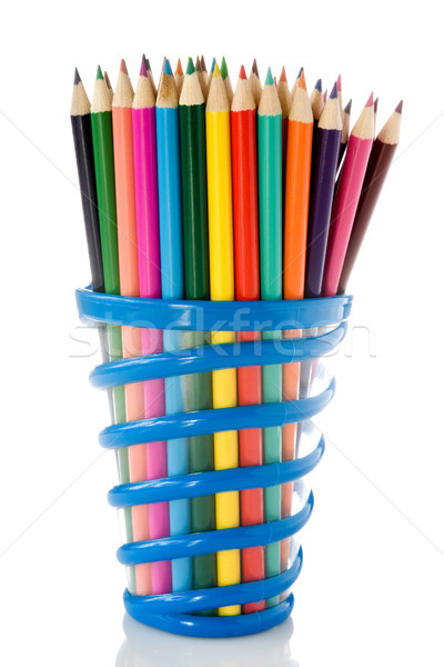 set of color pencils Stock photo © Grazvydas
