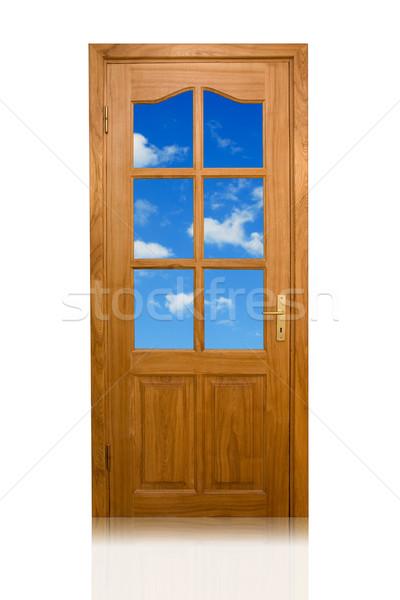 двери небо Blue Sky белый облака Сток-фото © Grazvydas