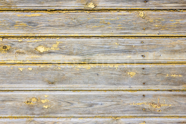 Wall with  peeling yellow paints Stock photo © Grazvydas
