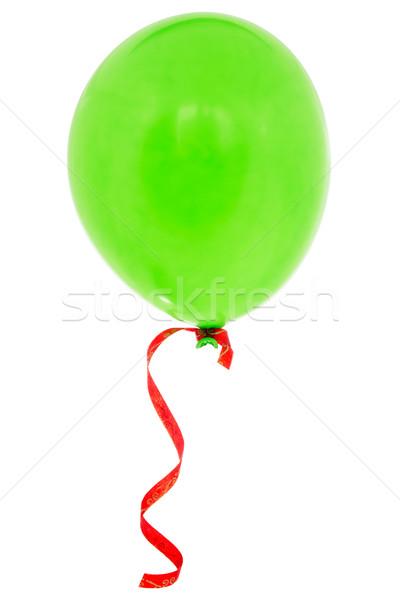 Green happy air flying balloon Stock photo © Grazvydas
