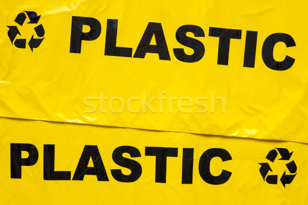 Garbage bags for recyclable plastic Stock photo © Grazvydas