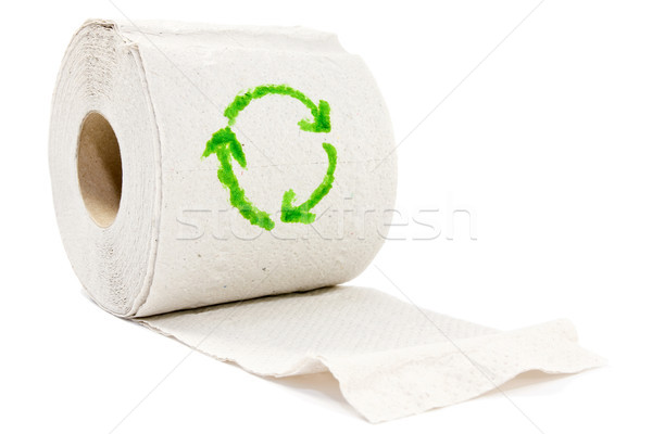Toiletpapier recycleren symbool groene gezondheid schone Stockfoto © Grazvydas
