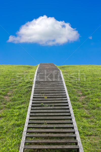 лестница небе огромный лестница ведущий вверх Сток-фото © Grazvydas