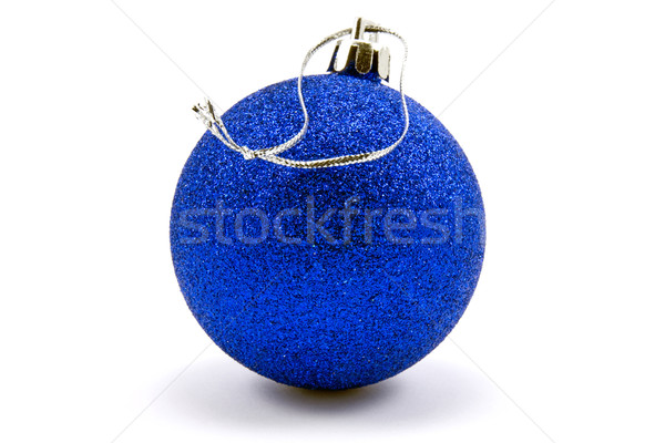 blue christmas bauble Stock photo © Grazvydas