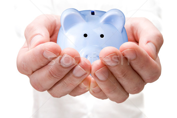 Działalności banku piggy finansowych pomysł bankowego Zdjęcia stock © Grazvydas