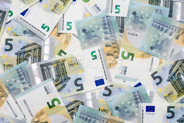 новых пять евро бизнеса бумаги Сток-фото © Grazvydas