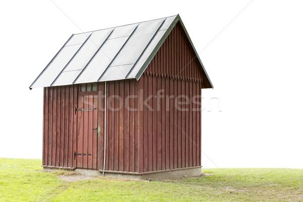 Fából készült épület zárolt ajtók fehér ház Stock fotó © Grazvydas