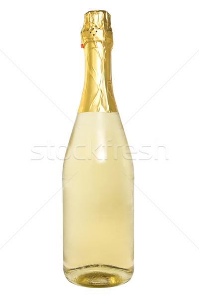 Garrafa champanhe branco vidro álcool natal Foto stock © Grazvydas