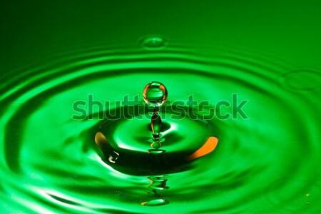 Zöld tiszta víz csobbanás cseppecske természet szépség Stock fotó © Grazvydas