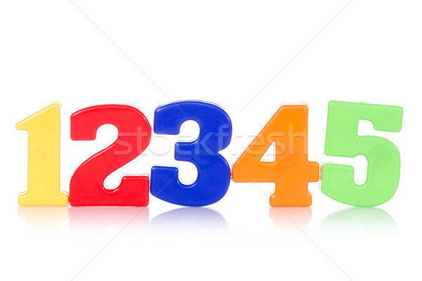 Five colorful digits Stock photo © Grazvydas