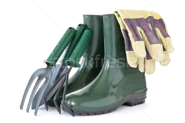rubber boots with garden tools Stock photo © Grazvydas