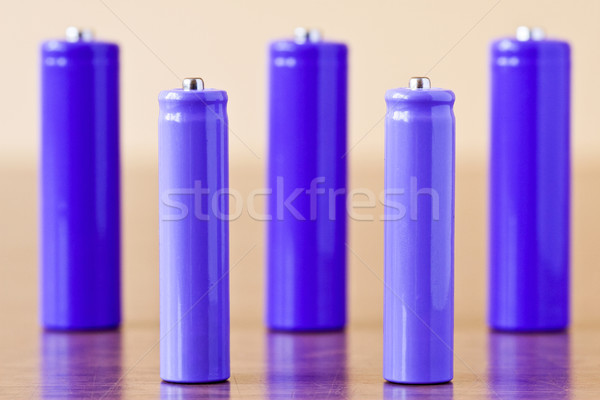 purple alkaline batteries Stock photo © Grazvydas