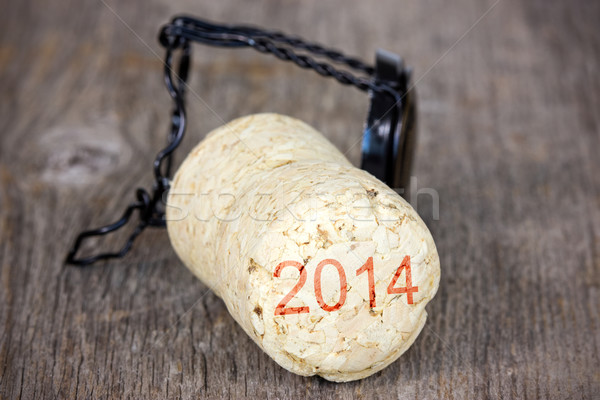 Champagne cork new year 2014  Stock photo © Grazvydas
