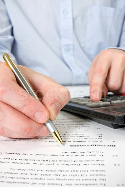 businessman working with documents Stock photo © Grazvydas