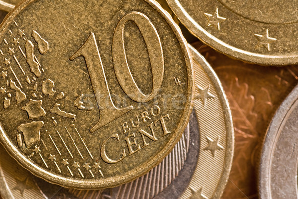 close-up of a ten cents Stock photo © Grazvydas