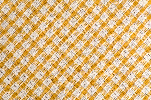 シームレス 対角線 テーブルクロス パターン 黄色 白 ストックフォト © Grazvydas