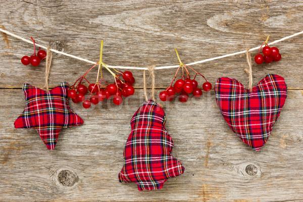 Natale decorazione rosso frutti di bosco legno legno Foto d'archivio © Grazvydas