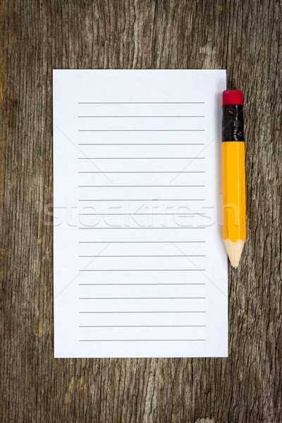 Pencil and lined paper  Stock photo © Grazvydas