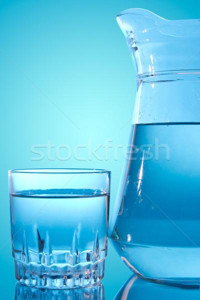Glass and water pitcher Stock photo © Grazvydas