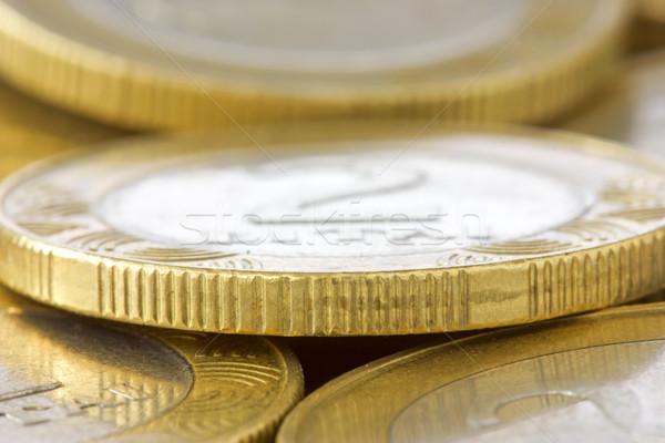 macro shot of pile of coins Stock photo © Grazvydas