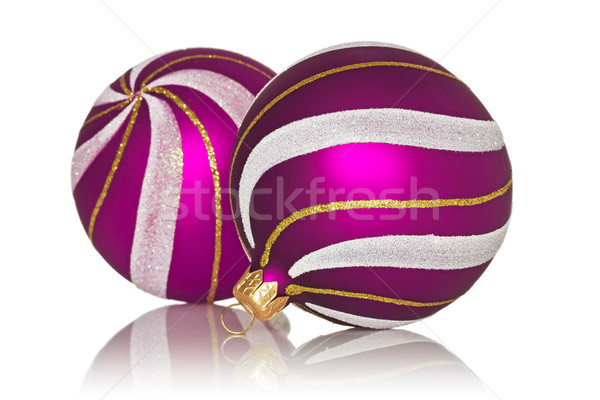 purple christmas baubles  Stock photo © Grazvydas