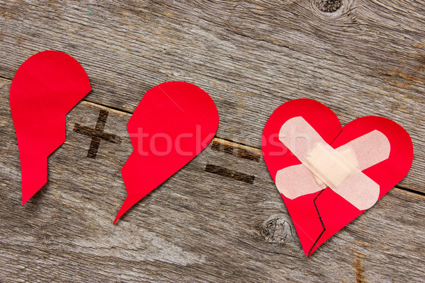 Connecting broken heart Stock photo © Grazvydas