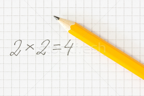 math formula and pencil on squared paper Stock photo © Grazvydas