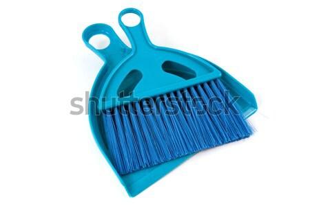 Bleu évider poussière brosse blanche maison Photo stock © Grazvydas