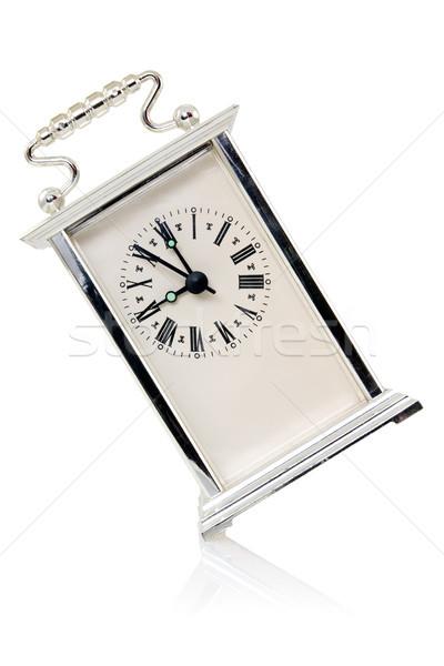 Vieux horloge montrent neuf affaires Photo stock © Grazvydas