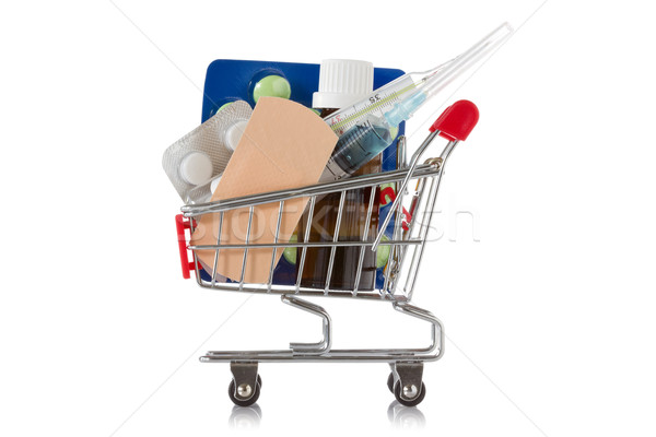 Shopping cart with  medical supplies Stock photo © Grazvydas