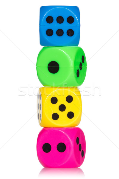 Stack of colorful dice Stock photo © Grazvydas