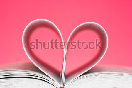 Book curved into a heart shape Stock photo © Grazvydas