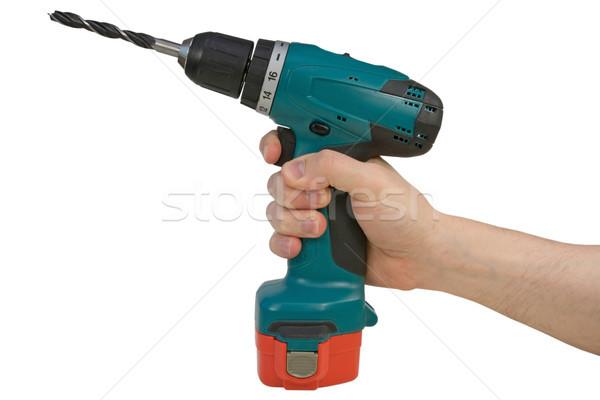 Hand holding cordless drill Stock photo © Grazvydas