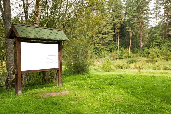 Billboard лес копия пространства древесины природы Сток-фото © Grazvydas
