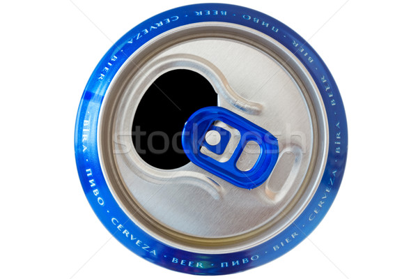 can with beer names in different languages Stock photo © Grazvydas