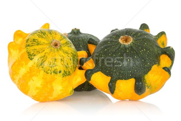 Kürbisse isoliert weiß Obst Herbst Gemüse Stock foto © Grazvydas