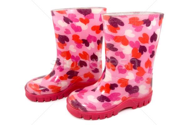 Colorful children's rain boots Stock photo © Grazvydas