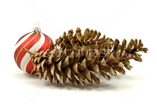 Pino Natale gingillo bianco design inverno Foto d'archivio © Grazvydas