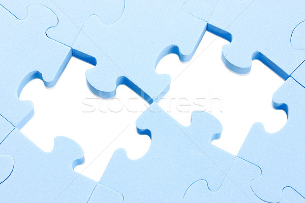 puzzle background with two missing pieces  Stock photo © Grazvydas
