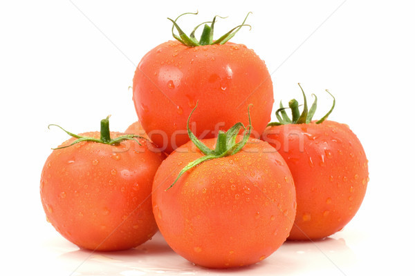 Hoop vers tomaten witte voedsel plantaardige Stockfoto © Grazvydas