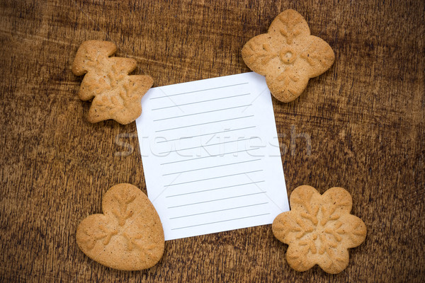 Cookies with a lined paper piece Stock photo © Grazvydas