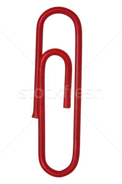 Rood paperclip geïsoleerd witte business Stockfoto © Grazvydas