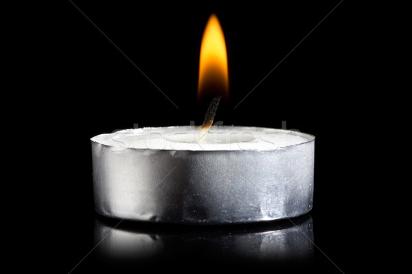 burning candle in darkness  Stock photo © Grazvydas