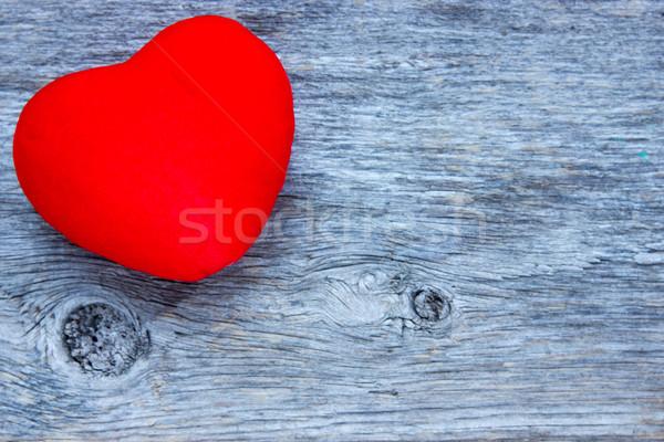 красный сердце синий совета текстуры Сток-фото © Grazvydas