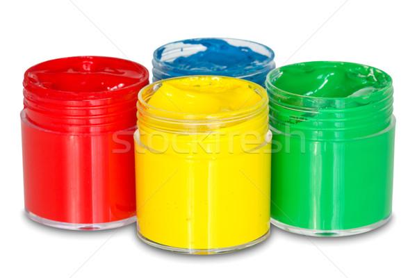 four color paint cans Stock photo © Grazvydas