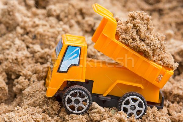 Dump truck unloads soil Stock photo © Grazvydas