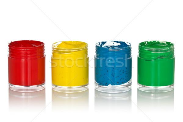 four color gouache  Stock photo © Grazvydas