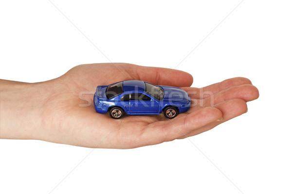 Mano blu auto mano umana piccolo strada Foto d'archivio © Grazvydas