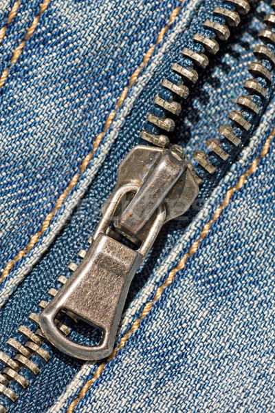 zipper of a stylish blue jeans Stock photo © Grazvydas